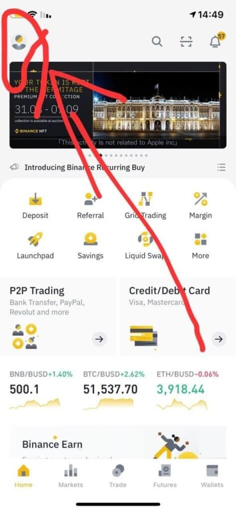 מדריך לאימות חשבון בבורסת בינאנס 2